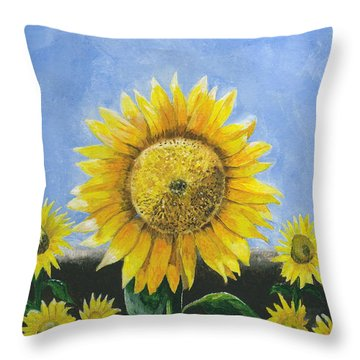 Sunflower Series One Throw Pillow