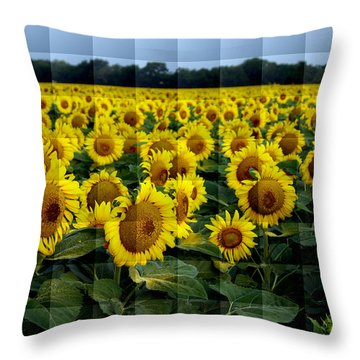 Sunflower Squared Throw Pillow