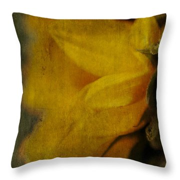 Sunflower Study II Throw Pillow