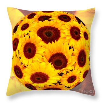Sunflower Sunshine Throw Pillow