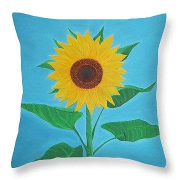 Sunflower Throw Pillow by Sven Fischer