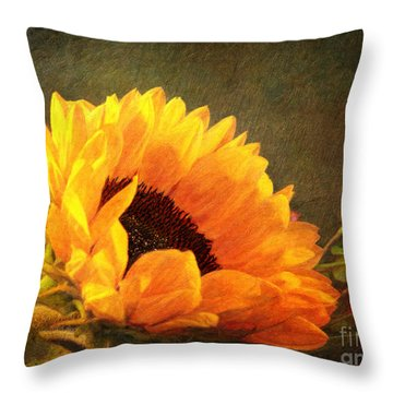 Sunflower - You Are My Sunshine Throw Pillow by Lianne Schneider