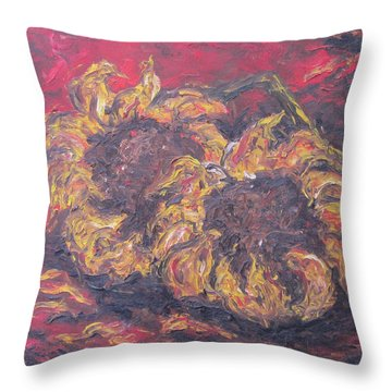 Sunflowers 2 - Ode To Van Gogh Throw Pillow