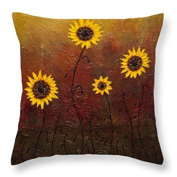 Sunflowers 3 Throw Pillow