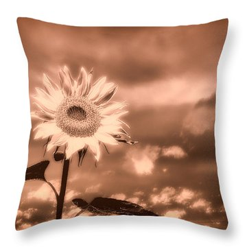 Sunflowers Throw Pillow by Bob Orsillo