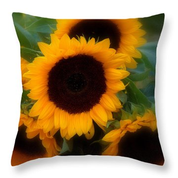 Throw Pillow featuring the photograph Sunflowers by Caroline Stella