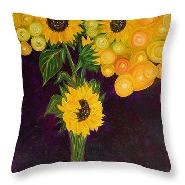 Sunflower's Dream Throw Pillow