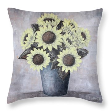 Sunflowers Throw Pillow by Home Art