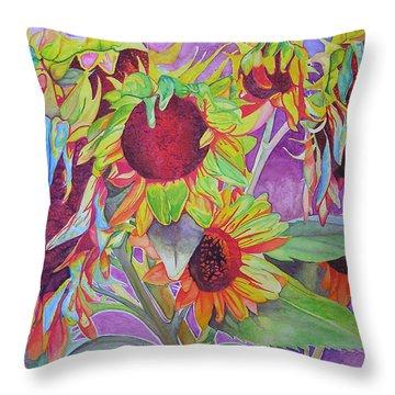 Sunflowers Throw Pillow by Joshua Morton