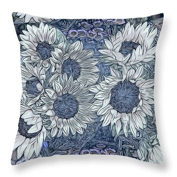 Sunflowers Paris Throw Pillow