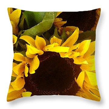 Sunflowers Tall Throw Pillow
