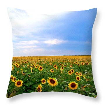 Sunflowers Throw Pillow by Thomas Leon