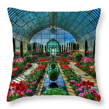 Sunken Garden Marjorie Mc Neely Conservatory Throw Pillow