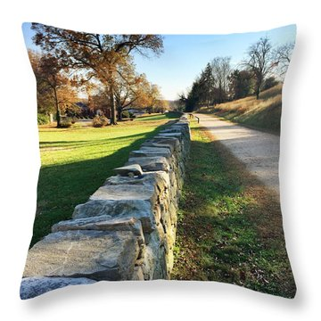 Sunken Road Throw Pillow