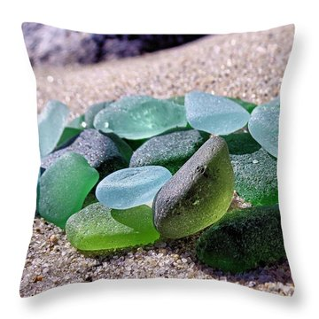 Sunkissed Glass Throw Pillow by Janice Drew