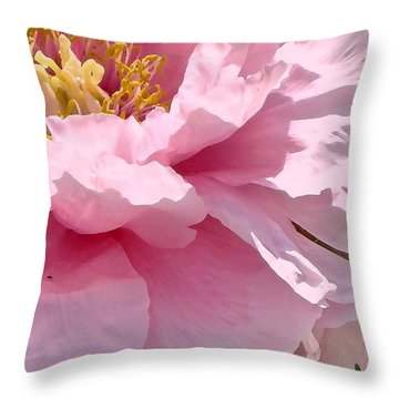 Sunkissed Peonies 1 Throw Pillow