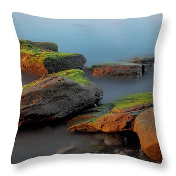 Sunkissed Rocks Throw Pillow by Jacqui Boonstra