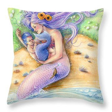 Sunkissed Throw Pillow by Sara Burrier