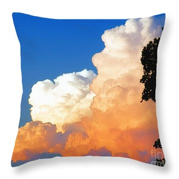 Sunkissed Storm Cloud Throw Pillow
