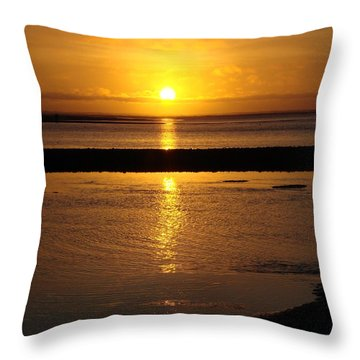 Throw Pillow featuring the photograph Sunkist Sunset by Athena Mckinzie