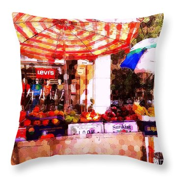 Throw Pillow featuring the photograph Sunkist by Miriam Danar