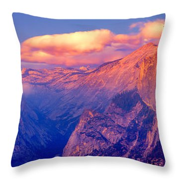 Sunlight Falling On A Mountain, Half Throw Pillow