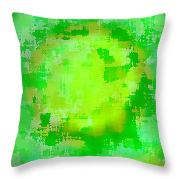 Original Abstract Art Painting Sunlight In The Trees  Throw Pillow