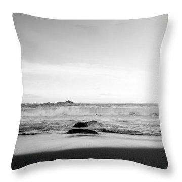 Sunlight On Beach Throw Pillow