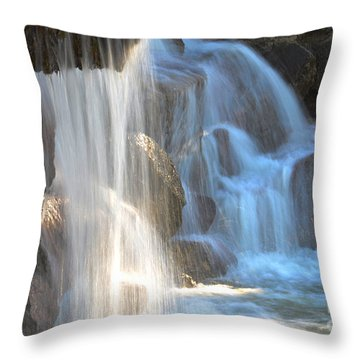 Sunlight On The Falls Throw Pillow