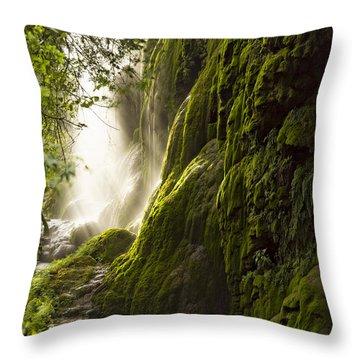 Gorman Falls Ray Of Light Throw Pillow