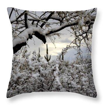 Sunlight Peeking Through  Throw Pillow by Saija  Lehtonen