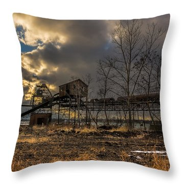 Sunlight Through A Coal Loader Throw Pillow