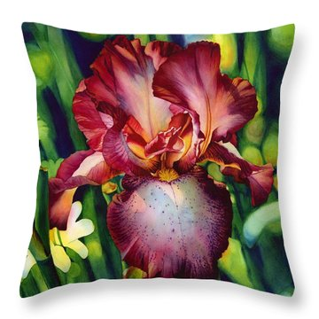 Sunlit Iris Throw Pillow