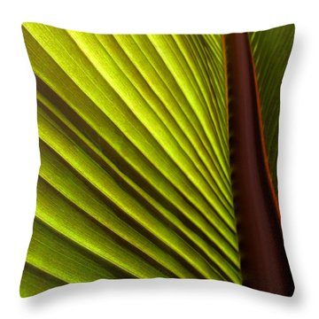 Sunlit Leaf Throw Pillow