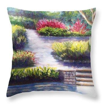 Sunlit Paths Throw Pillow