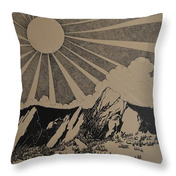 Sunny 300 Days A Year Throw Pillow by Stuart Engel