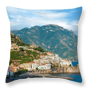 Sunny Amalfi City Throw Pillow
