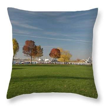 Throw Pillow featuring the photograph Sunny Autumn Day by Jonah  Anderson