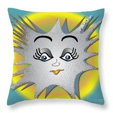 Sunny Boy Throw Pillow by Iris Gelbart