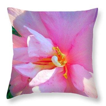 Sunny Camellia Throw Pillow