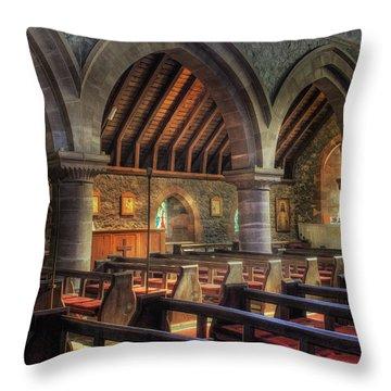 Sunny Church Throw Pillow by Ian Mitchell