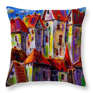 Sunny City Throw Pillow