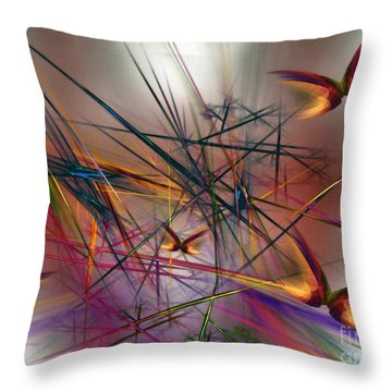 Sunny Day-abstract Art Throw Pillow