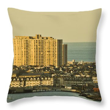 Sunny Day In Atlantic City Throw Pillow by Trish Tritz