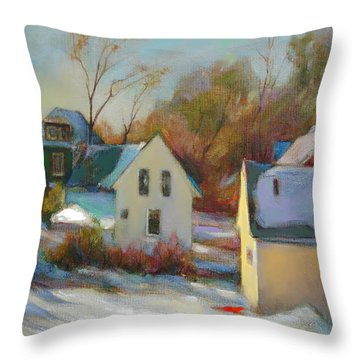 Sunny Day In Winter Throw Pillow