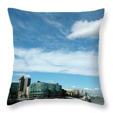 Sunny Day London Throw Pillow by Jonah  Anderson