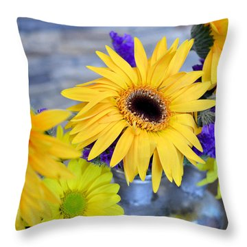 Throw Pillow featuring the photograph Sunny Days by Ally  White