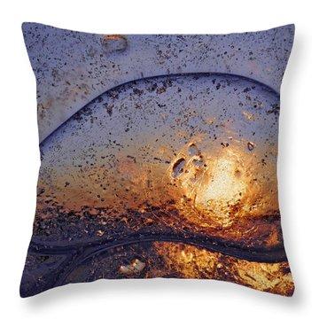 Sunny Evening Seascape Throw Pillow