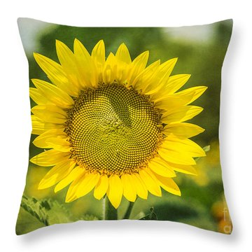 Sunny Face Throw Pillow
