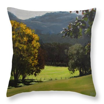 Sunny Fall Day Throw Pillow by Karen Ilari